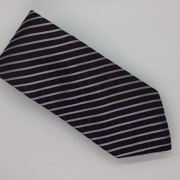 Tommy Hilfiger Other - Tommy Hilfiger Chocolate Brown and Blue Stripe Tie
